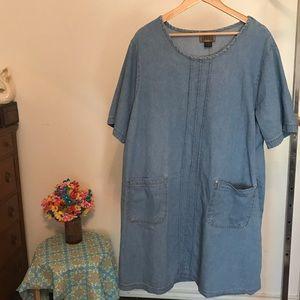 Vintage Blue Light Denim Dress